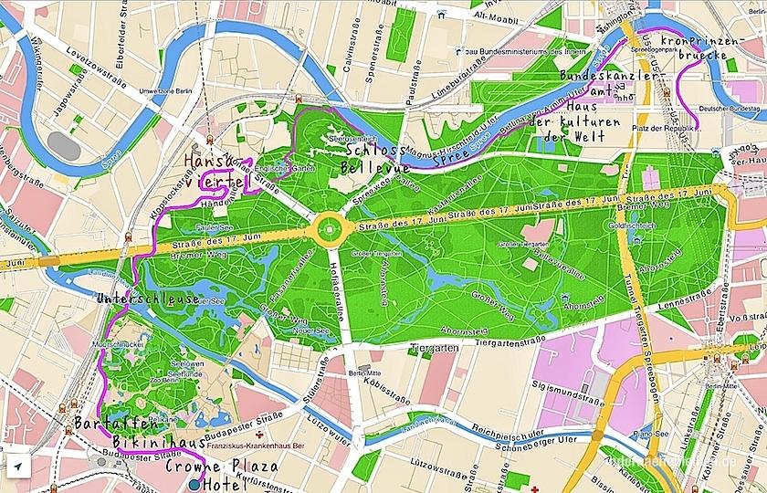 Tiergarten Berlin Map