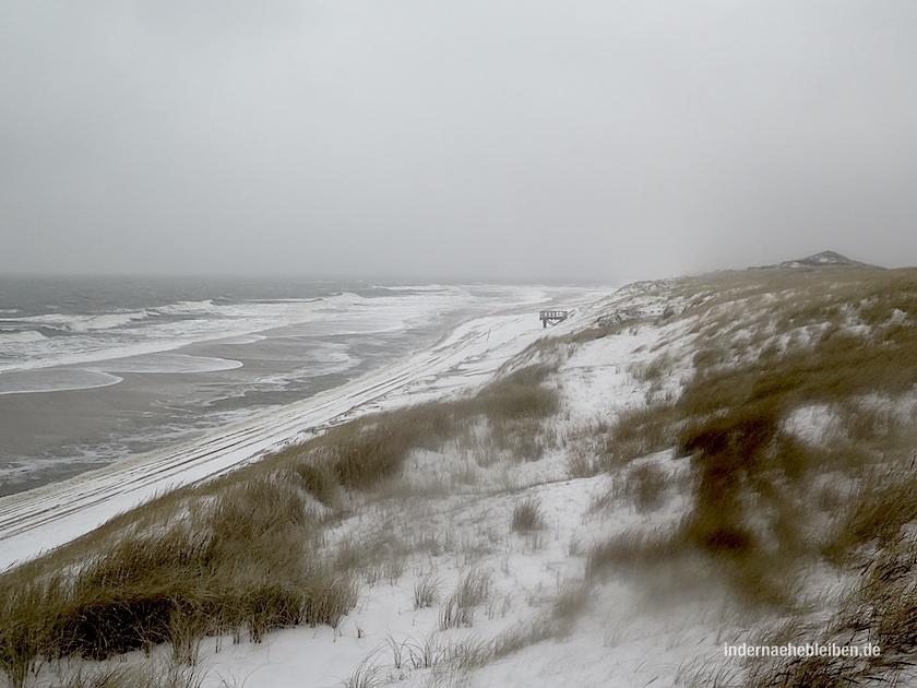 Weststrand im Schnee