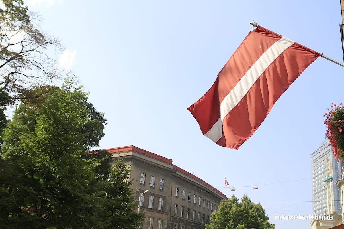 Flagge Lettland